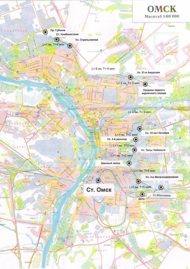 Схема городской электрички в